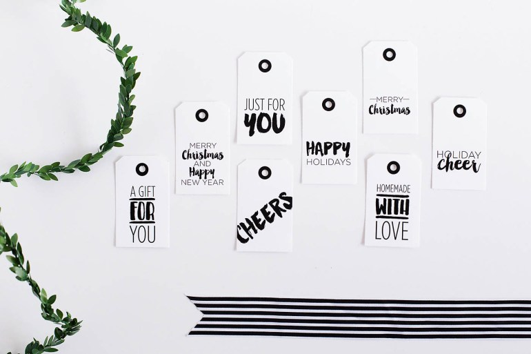 Free printable gift tags perfect for Christmas or any holiday