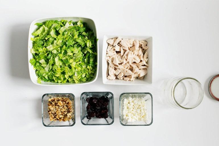 Chopped Cherry Walnut Salad to Go