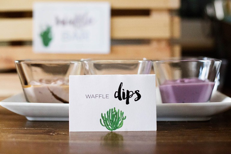 How to host a gluten and dairy free waffle bar
