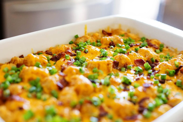 Cheesy Hashbrown (Tater Tot) Casserole