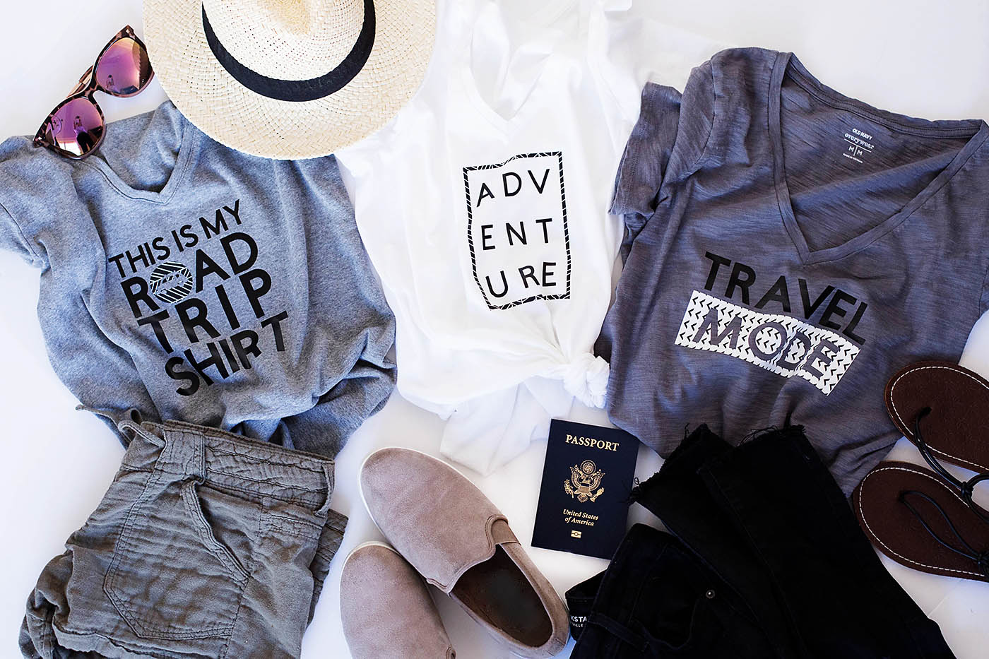 3 DIY Travel Tees with Cricut Patterned Iron On™