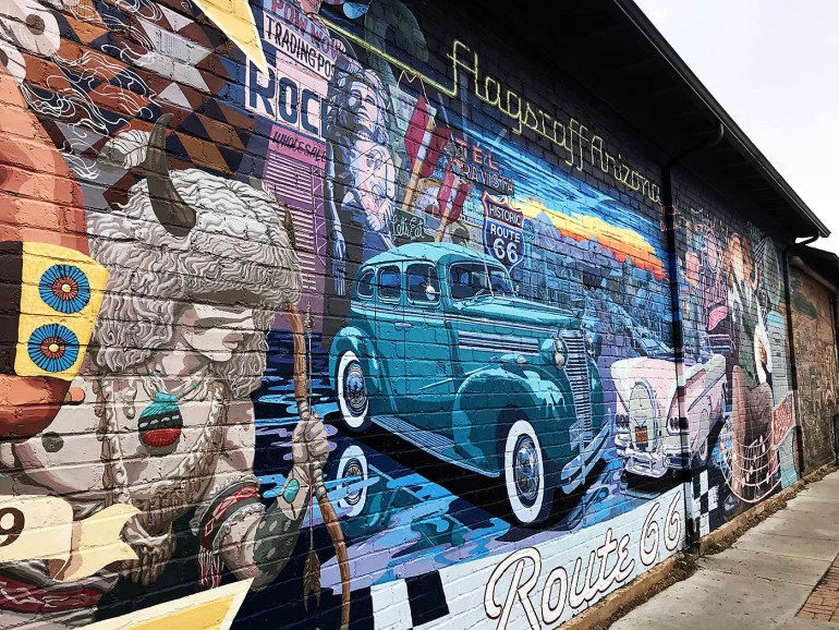 Wall mural in Flagstaff, AZ