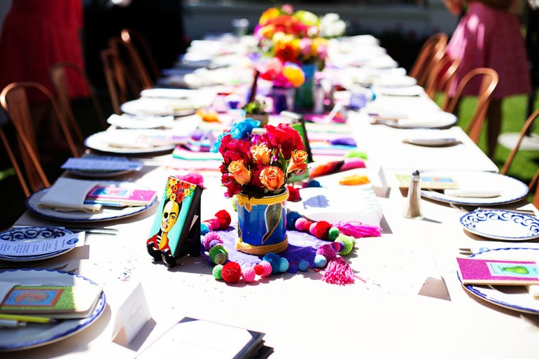 Gorgeous colorful brunch spread