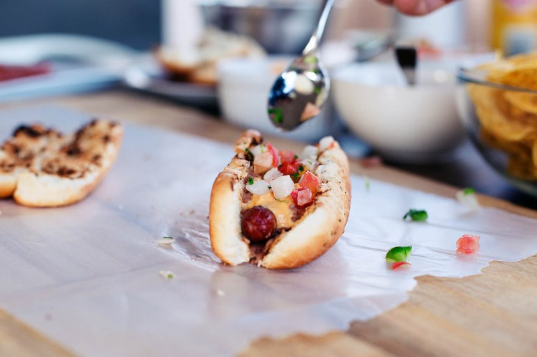 Nacho hot dogs - perfect for easy Summer BBQs!
