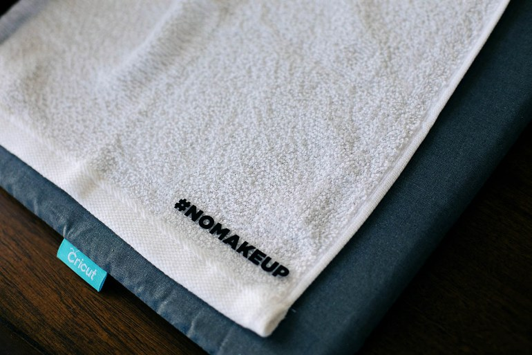 DIY bath gift set with personalized towels
