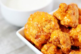 "Skinny gluten-free cauliflower buffalo ""wings"""