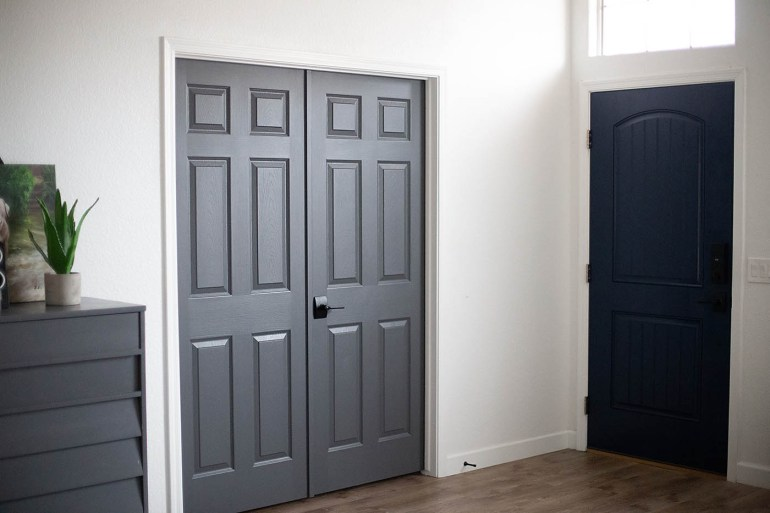 Dark Gray Doors How To Paint Your Own All For The Memories