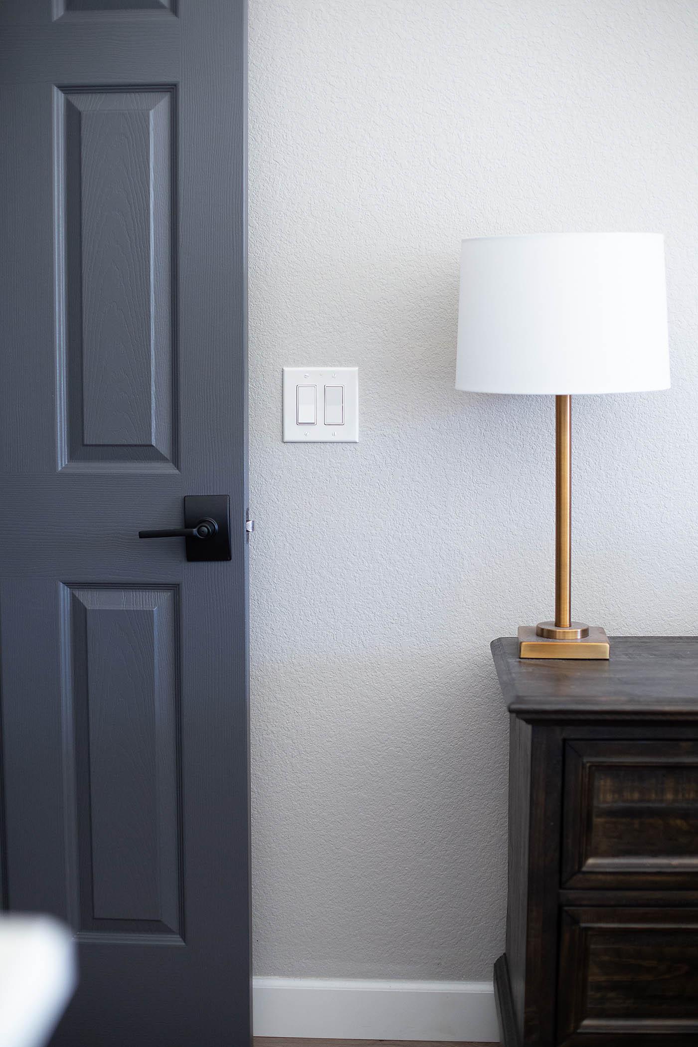 How to paint your interior doors dark grey & Dark Gray Doors - How to Paint Your Own - All for the Memories