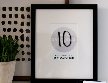 DIY Universal Studios and Universal Orlando Vacation Countdown - The Wizarding World of Harry Potter countdown is available too!