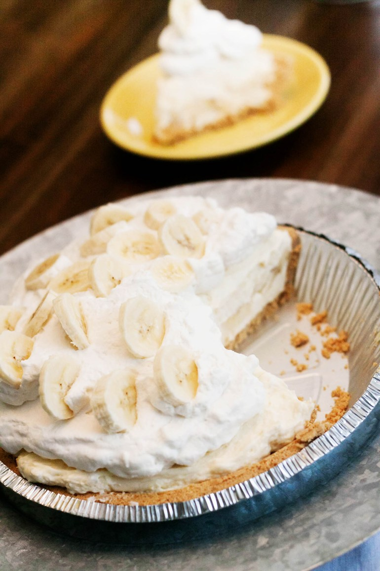 Easy gluten-free banana cream pie