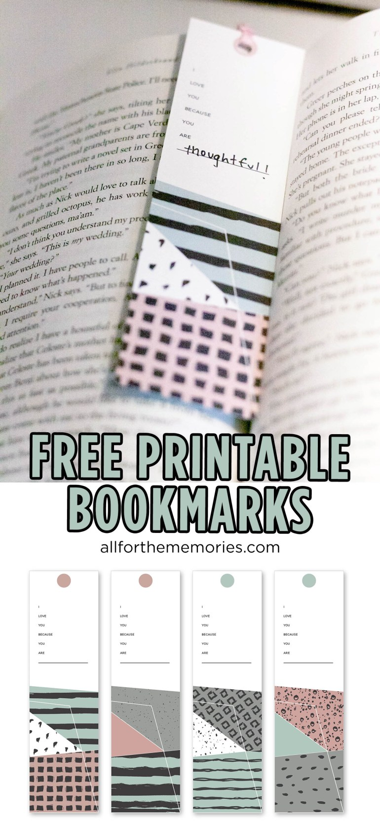 Free printable bookmarks