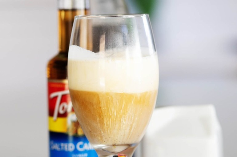 Salted Caramel Cold Brew Float