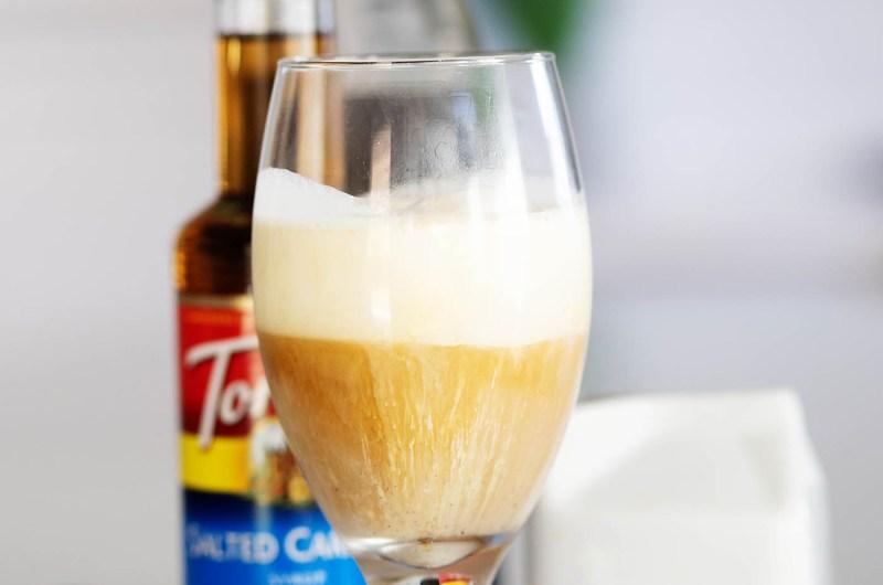 Salted Caramel Cold Brew Float