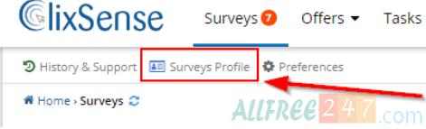 surveys profiles