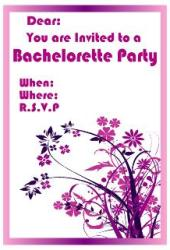 Pink abstract bachelorette