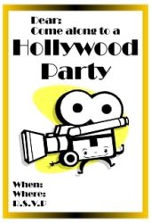 Hollywood is a great theme for a party