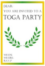 Toga parties look like fun