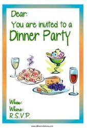 Dinner party invitation cheese platter