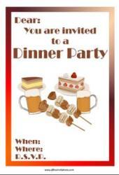 Dinner party invitation beer skewers