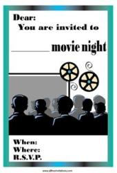 movie night invitation relax on sofa