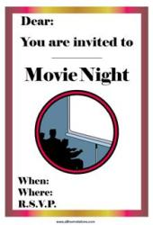 movie invitation home theatre theater