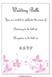 pink and black wedding invitation theme