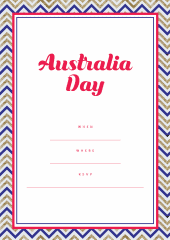 Australia Day party invitation
