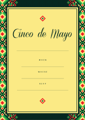 Cinco-de-Mayo celebration invite yellow green