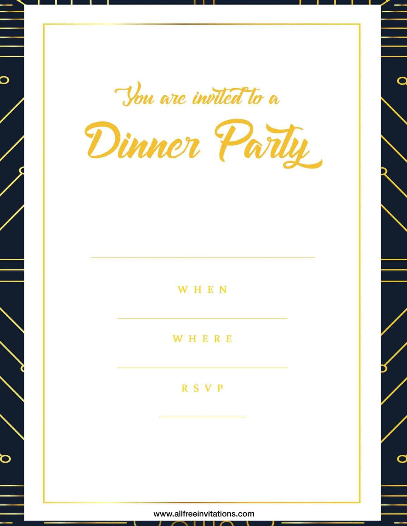Dinner party invitation simple modern design