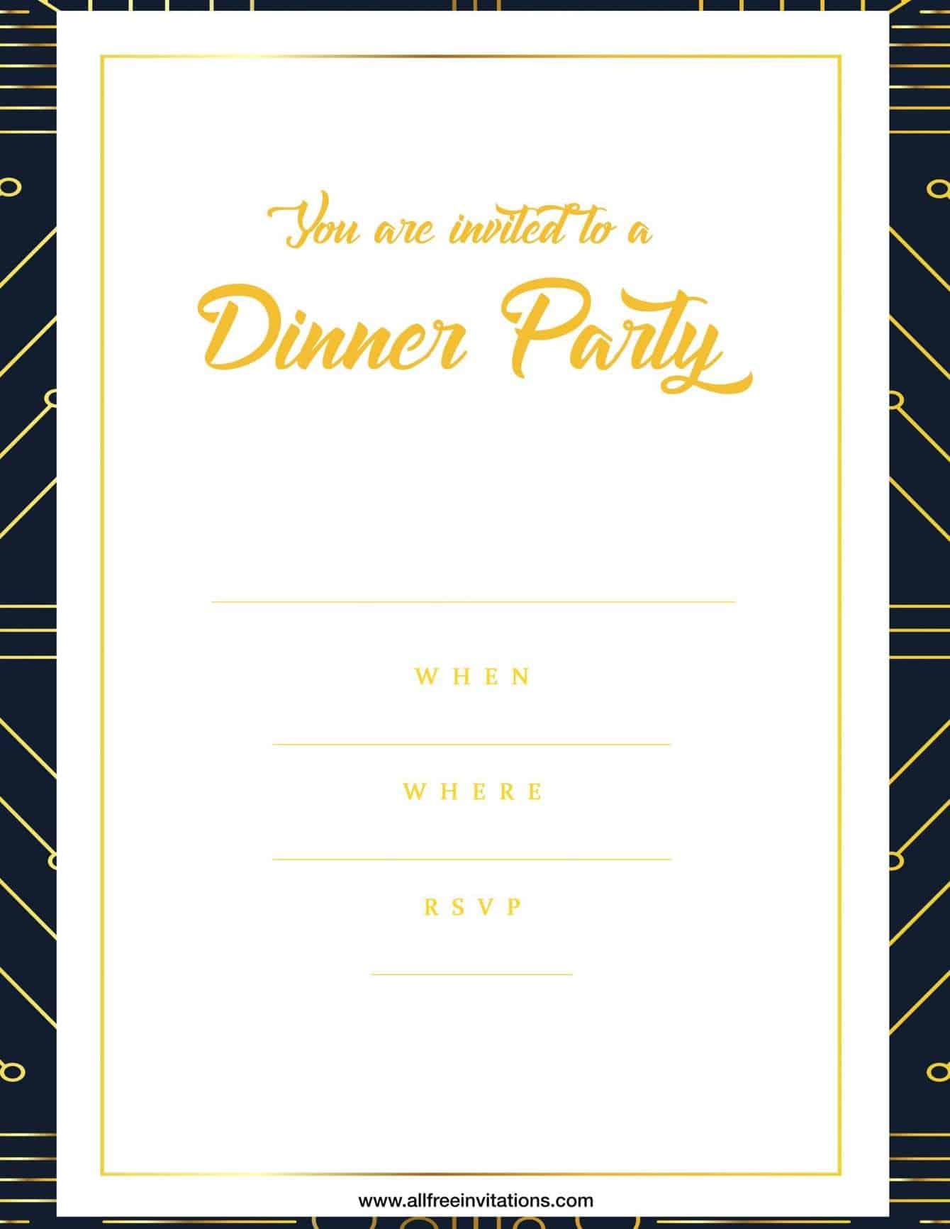 Dinner party invitation simple modern design