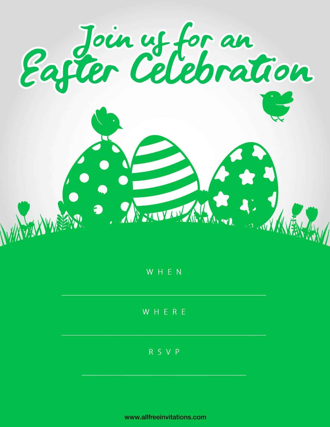 Easter Party Invitation Green Design
