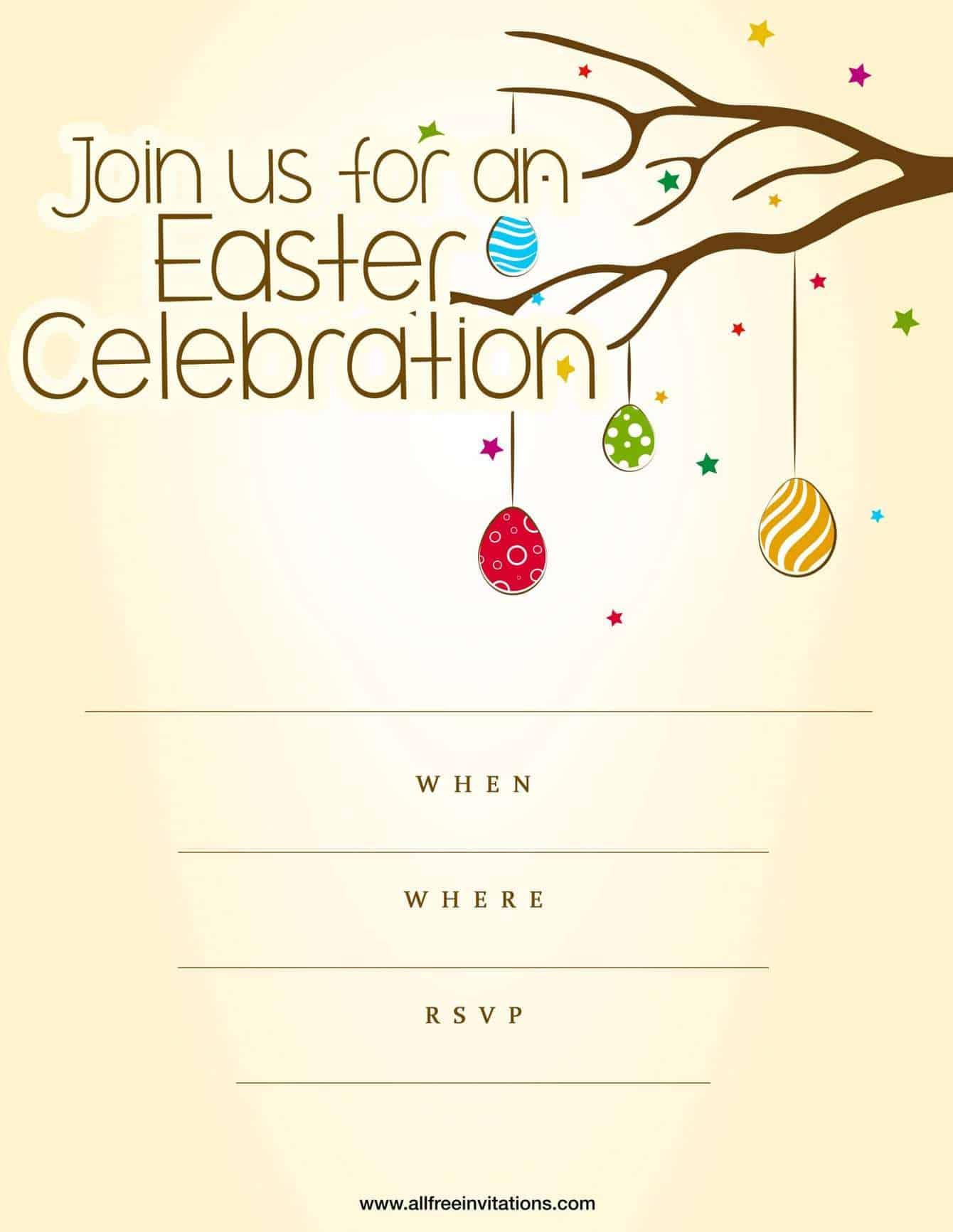 Easter party invitation peach design