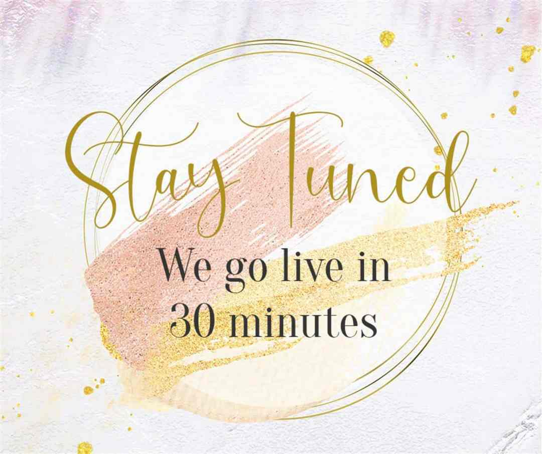 going live in 30 minutes free facebook graphic pink blush and glitter (Large)