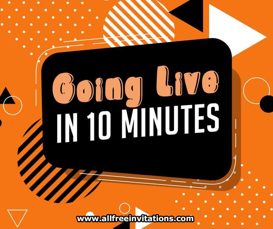 free facebook graphics - social media live stream invite
