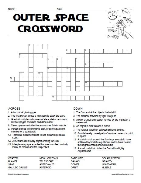 earth as a planet crossword