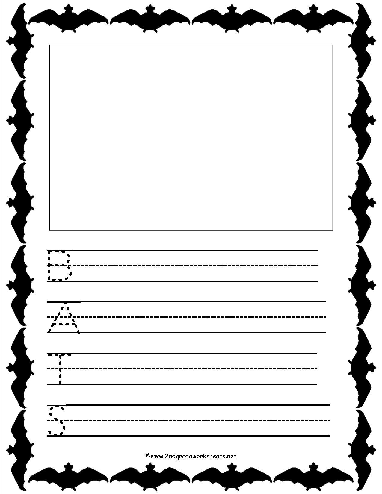 Free Printable Bat Writing Paper