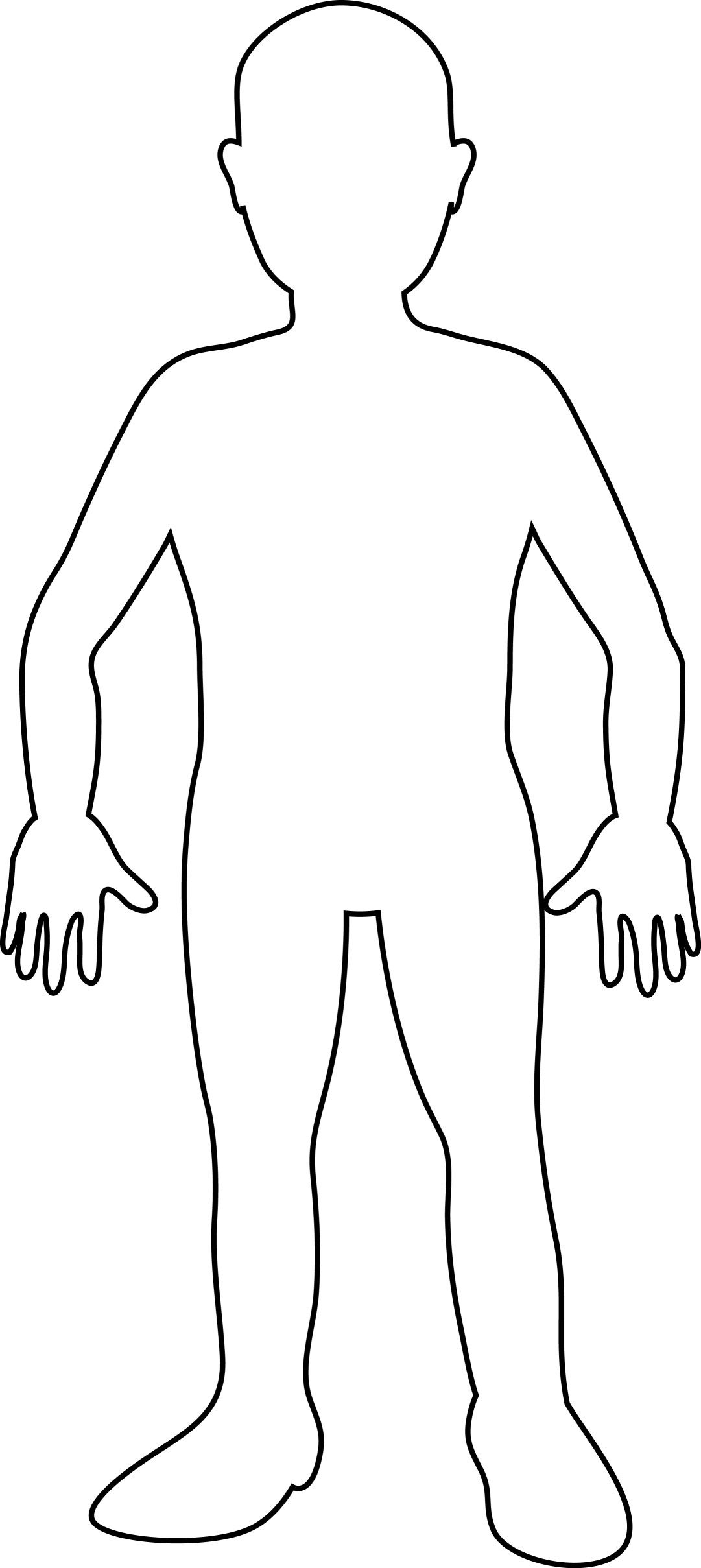 Free Printable Human Body Template