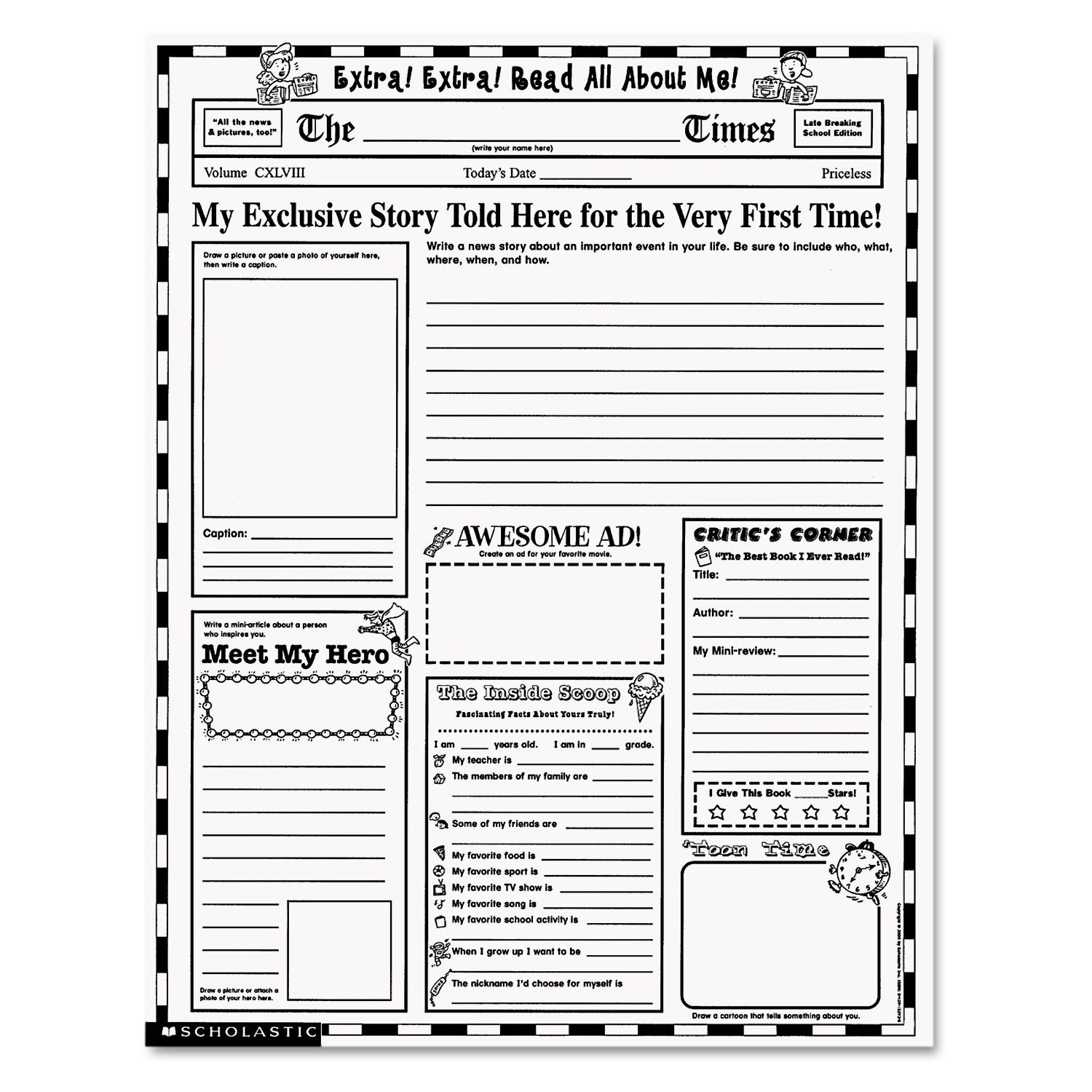 Free Printable Library Skills Worksheets
