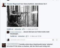 Wagenseil: »Herr Oberscharführer, übernehmen Sie !!« Darunter ist die Abbildung eines deutschen Soldaten zu sehen, aus dem angelegten Gewehr dringt Mündungsfeuer.