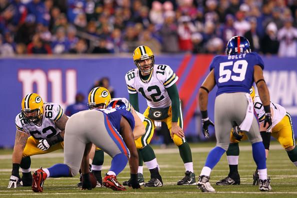 Aaron Rodgers enfrenta a defesa do New York Giants