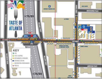 Taste Of Atlanta Map 2013