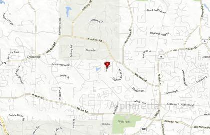 Alpharetta Map Mayfield Neighborhood Location