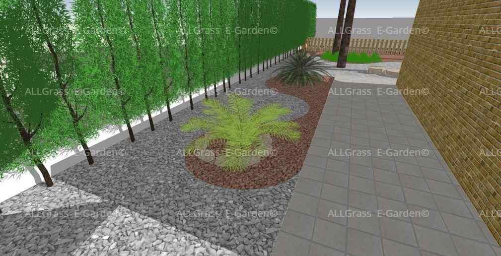 diseño 3D de zonas ajardinadas