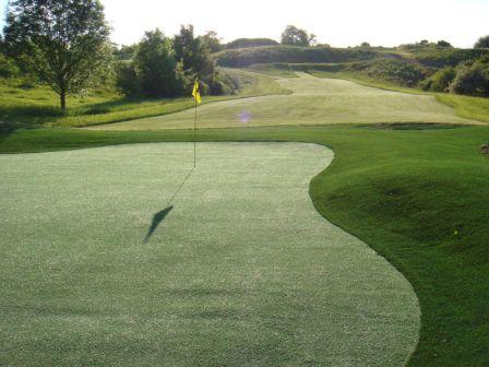green sintetico en campo de golf