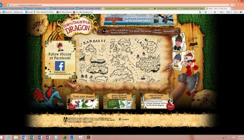 how to train your dragon webpage