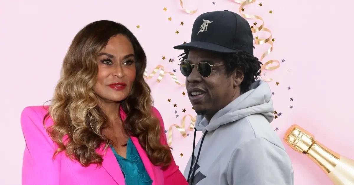 Tina Lawson and Jay-Z