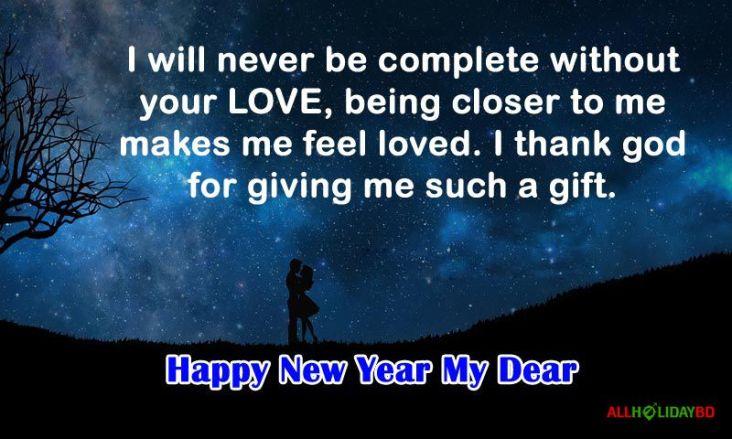 happy new year romantic status