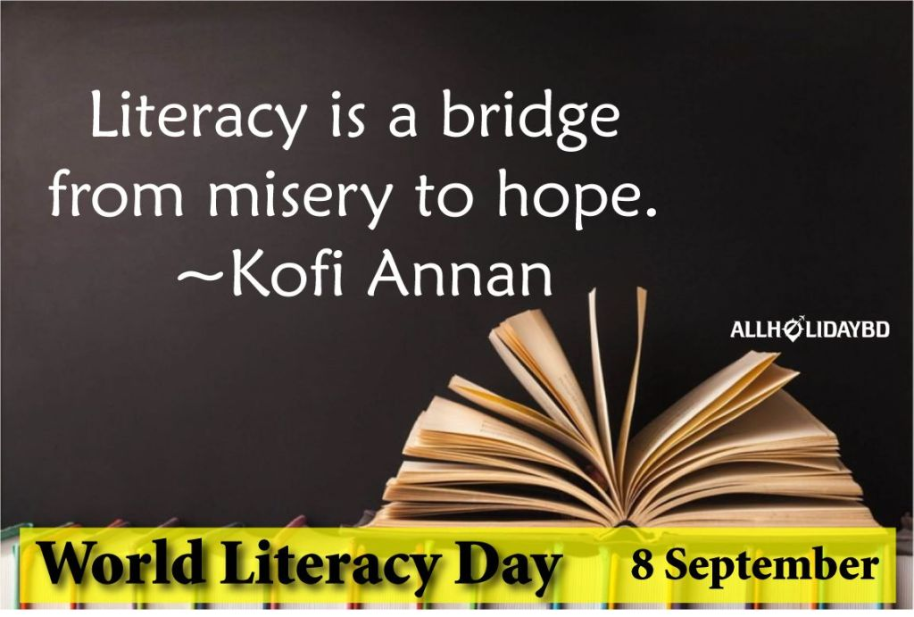 International Literacy Day 2019 quotes Images