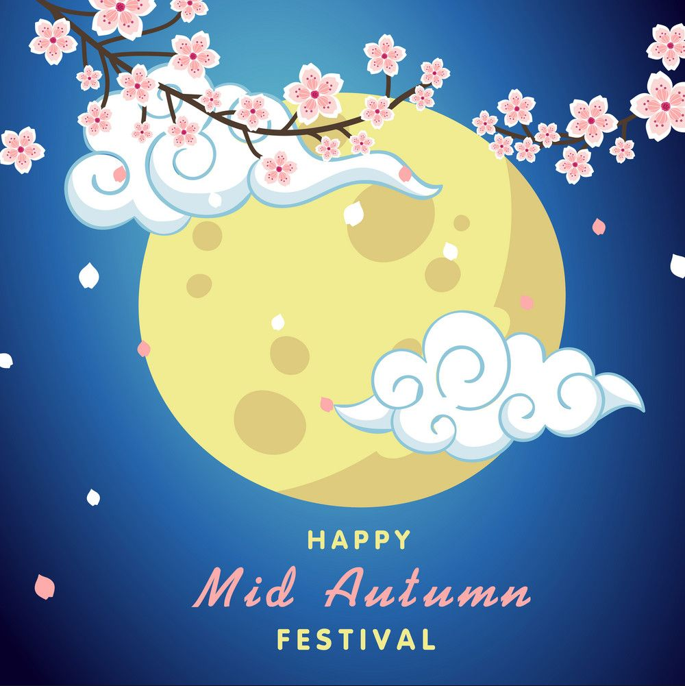 happy mid autumn festival moon photo