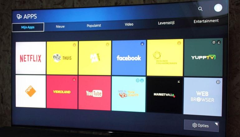 Samsung KS9500 review menu apps